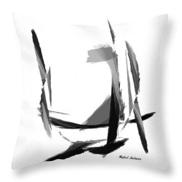 Abstract Series II Throw Pillow by Rafael Salazar
