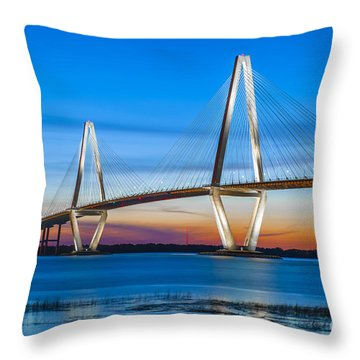 Charleston Arthur Ravenel Bridge Throw Pillow