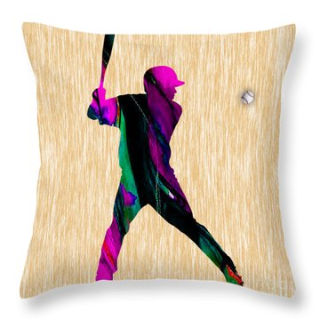 Baseball Throw Pillow by Marvin Blaine
