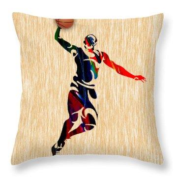 Basketball Throw Pillow by Marvin Blaine