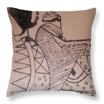 Bikira Maria  Throw Pillow by Gloria Ssali