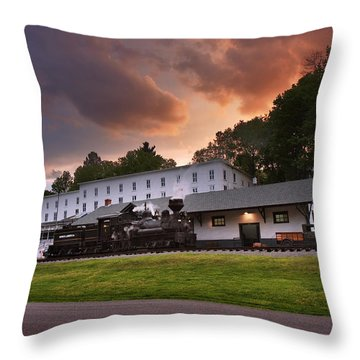 Cass Scenic Railroad Throw Pillow by Mary Almond