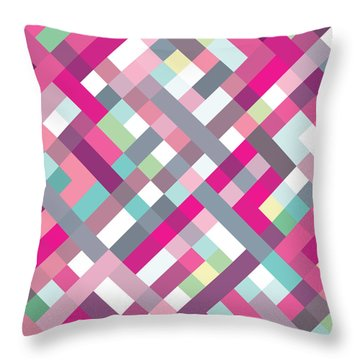 Throw Pillow featuring the digital art Geometric Art by Mike Taylor