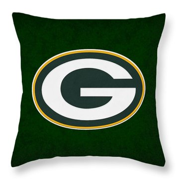 Green Bay Packers Throw Pillow by Joe Hamilton