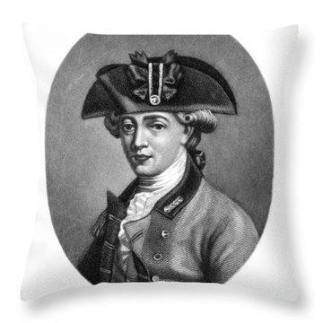 John Andre (1751-1780) Throw Pillow by Granger