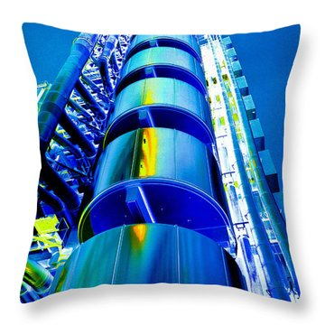 Lloyd's Building London Art Throw Pillow