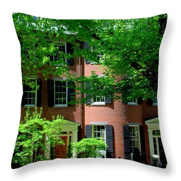 10 Louisburg Sq Beacon Hill Throw Pillow