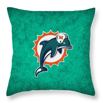 Miami Dolphins Throw Pillow by Joe Hamilton