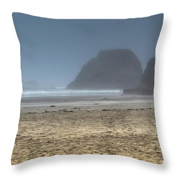 10 Mile Beach Throw Pillow