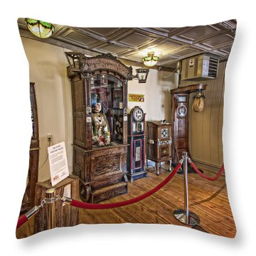 10 Million Dollar Fortune Teller Penny Arcade Game C. 1900 Throw Pillow by Daniel Hagerman