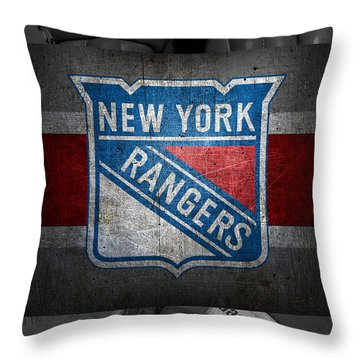 New York Rangers Throw Pillow