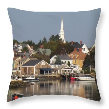 New Castle Harbor Nh Throw Pillow
