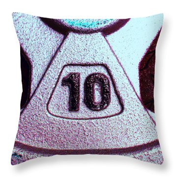 10 Pound Weight 2 Throw Pillow