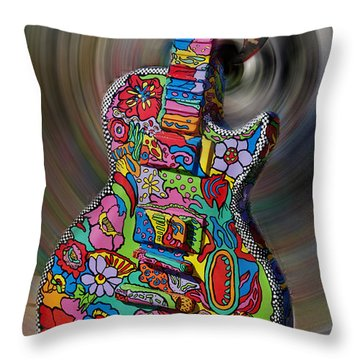 Rock N Roll Collection Throw Pillow