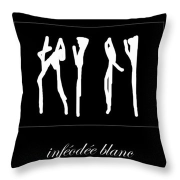 Subservient White Throw Pillow by Sir Josef - Social Critic -  Maha Art