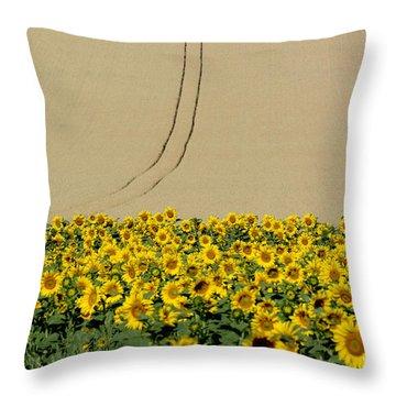 Sunflowers Throw Pillow by Bernard Jaubert