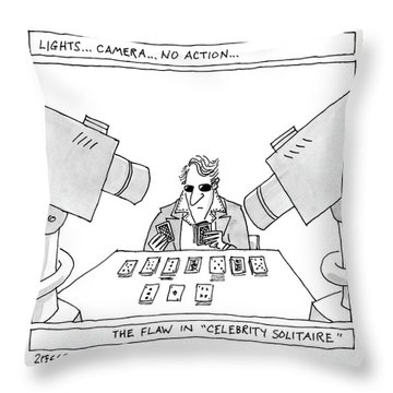 Lights...camera...no Action...the Flaw Throw Pillow