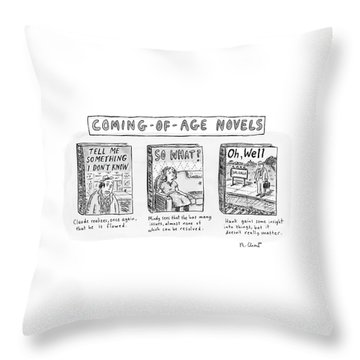 New Yorker June 11th, 2007 Throw Pillow