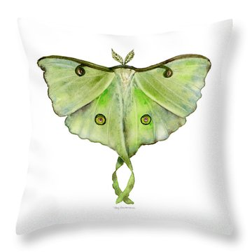 100 Luna Moth Throw Pillow