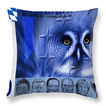 1000 Alpen Dollar Front Side Throw Pillow
