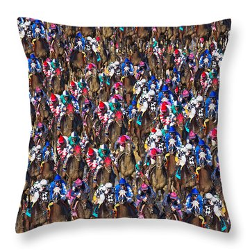 1000 Horses Throw Pillow