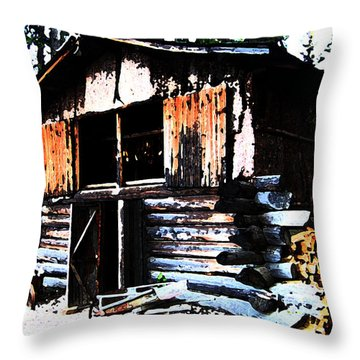 1000076 Salmon Smoke House Throw Pillow