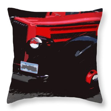 1000406008 Montana Tour Bus Throw Pillow by Garland Oldham