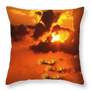 1002206 Louisiana Sun Set Throw Pillow