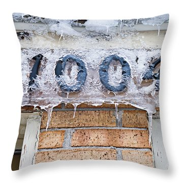 1004 Main Street Small Town Usa - Color Throw Pillow by Andee Design