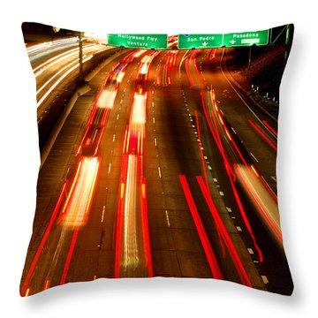Throw Pillow featuring the photograph 101 At Night by Matt Harang
