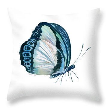 101 Perched Danis Danis Butterfly Throw Pillow by Amy Kirkpatrick