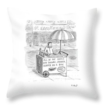 New Yorker September 12th, 2005 Throw Pillow