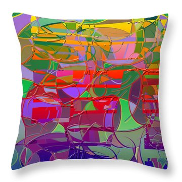 1021 Abstract Thought Throw Pillow