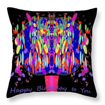 1038 - Happy Birthday  To You Throw Pillow