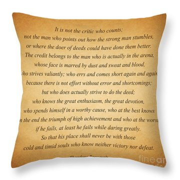 104- Theodore Roosevelt Throw Pillow by Joseph Keane