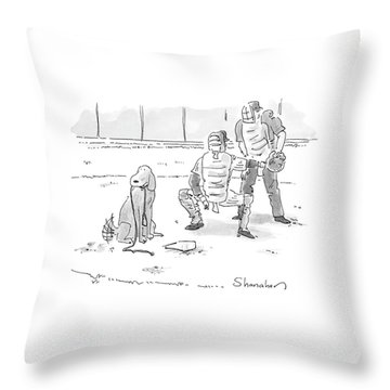 New Yorker October 10th, 2005 Throw Pillow by Danny Shanahan
