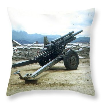 105mm Howitzer Throw Pillow