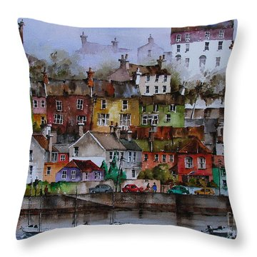 107 Windows Of Kinsale Co Cork Throw Pillow