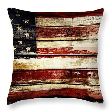 American Flag 33 Throw Pillow