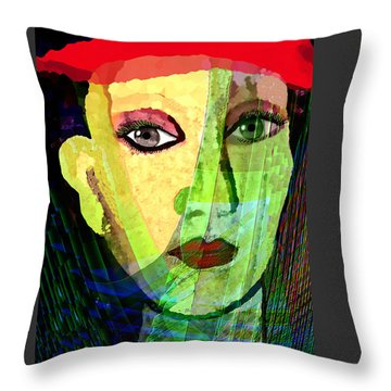 1084 - La  Signora ... Throw Pillow by Irmgard Schoendorf Welch