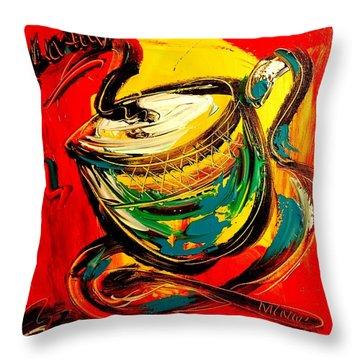 Coffee Throw Pillow by Mark Kazav