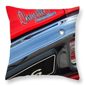 1970 Chevrolet Chevelle Ss Taillight Emblem Throw Pillow by Jill Reger