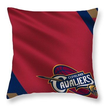 Cleveland Cavaliers Uniform Throw Pillow by Joe Hamilton