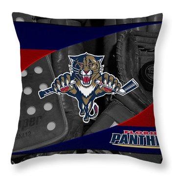 Florida Panthers Throw Pillow by Joe Hamilton