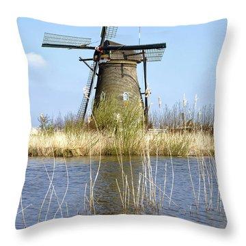 Kinderdijk Throw Pillow by Joana Kruse