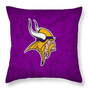 Minnesota Vikings Throw Pillow by Joe Hamilton