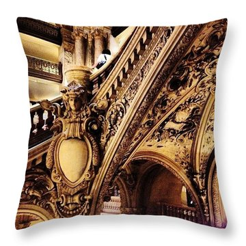#paris Throw Pillow