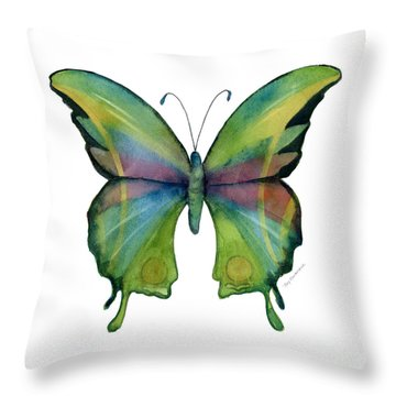 11 Prism Butterfly Throw Pillow