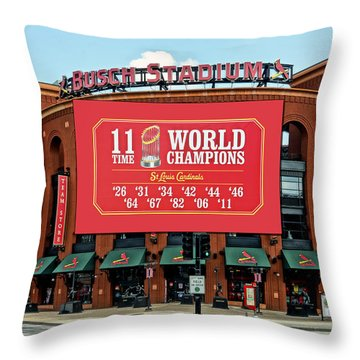 11 Time World Champion St Louis Cardnials Dsc01294 Throw Pillow