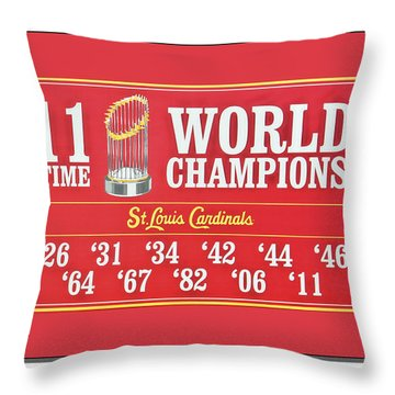 11 Time World Chapion Poster Dsc01106 Throw Pillow